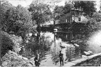 Лигово, речка, рыбалка (открытка)
