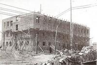 Строительство средней школы в Урицке. Архитектура Ленинграда. 1936 г.