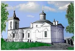 Лигово: Церковь в Старо-Паново. Фото нач. 20 в.